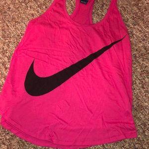 Pink Nike Razorback tank top